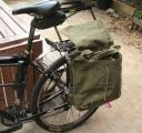 Bike army bag panniers
